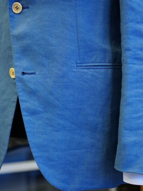 リネン100% シングルジャケット