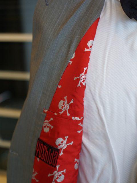 ダブル6個ボタン Dormeuil AMADEUS wool&silk