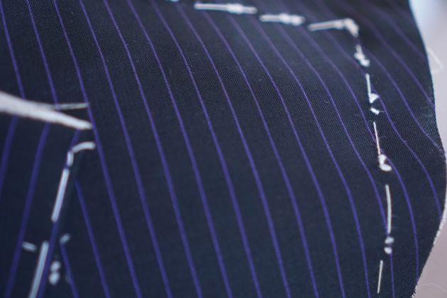 キッドモヘア 仮縫い