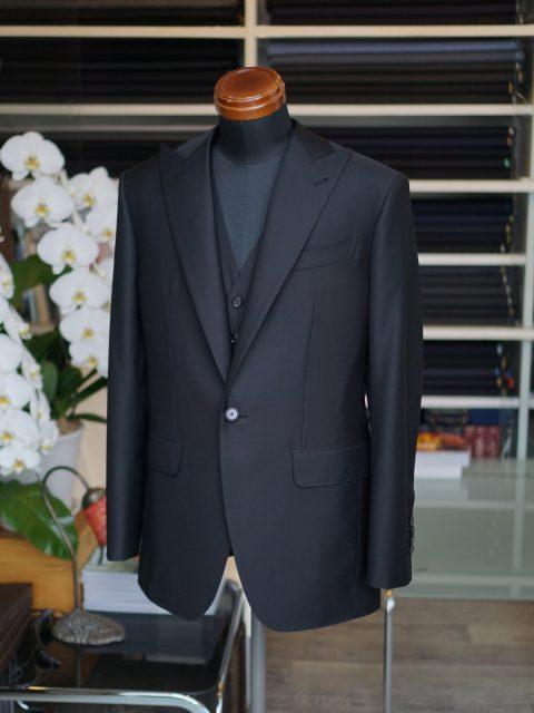 フォーマル スリーピース 黒 wool100% LANVIN